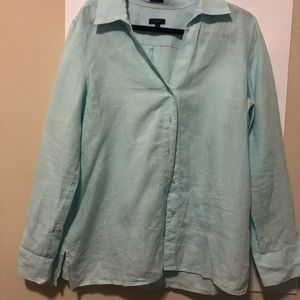 Pure Irish linen long sleeve Talbots shirt